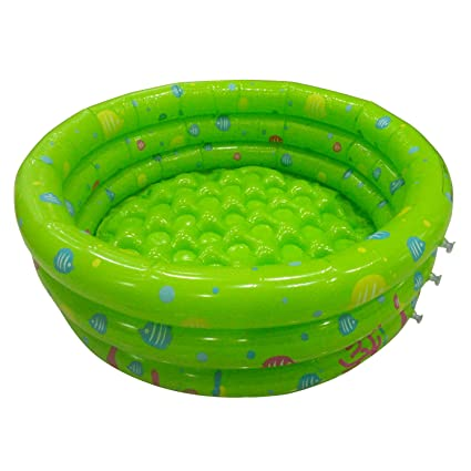 TRENDBOX Green 80cm Inflatable Round Swimming Pool Ball Pit for 1-2 Year  Old Babies Toddlers Outdoor Indoor Activities Garden Parties