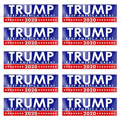 10 Pack Trump Keep America Great Again - Car Bumper Sticker Window Decal Flag - Donald for Presidential Election 2020: Garden & Outdoor