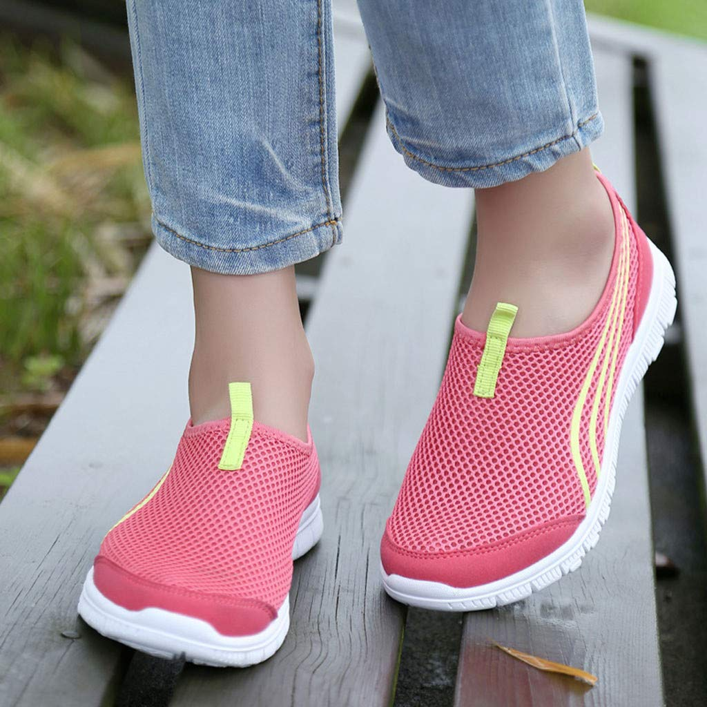 KAIKAIKOO Loafers for Women Comfortable Womens Mesh Breathable Casual Sports Running Shoes Sneakers Trainer Soft Shoes