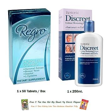 522476c07749 Amazon.com: SET RESTORIA DISCREET CREAM AND LOTION 250 ML LOOK ...