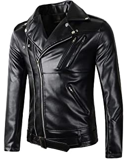 I-N-C Mens Faux Suede Motorcycle Jacket