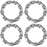X AUTOHAUX 4pcs 31mm x 9 Ball Bearing Cages Crank Bearings Mid Axle Wheel Bearing Retainer for Bicycle