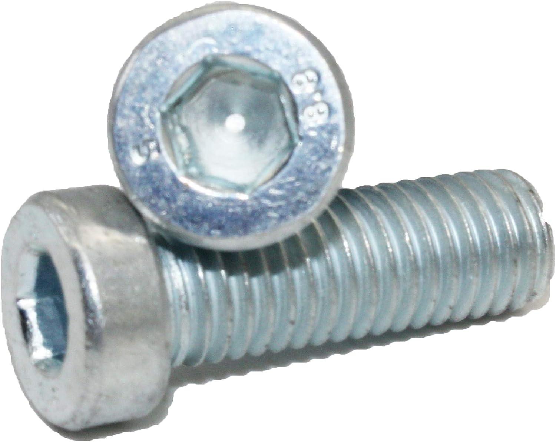 DIN 7984 Zylinderschrauben ISK Stahl 8.8 verzinkt 5 St/ück M10x75