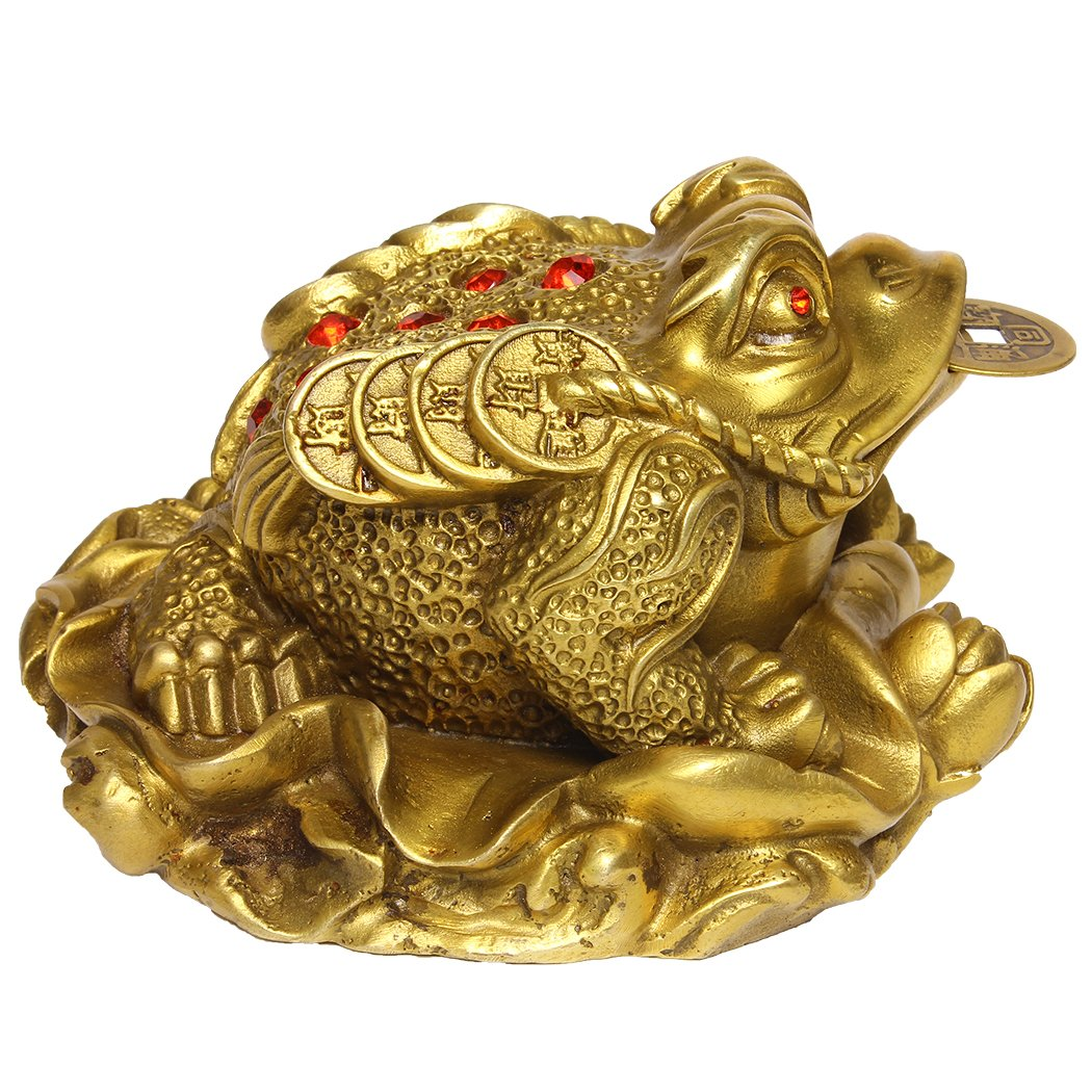 Amazon brass lotus money frog figurine toad statue home amazon brass lotus money frog figurine toad statue home ornaments for wealth collectible decor gift s bs100 home kitchen biocorpaavc Images