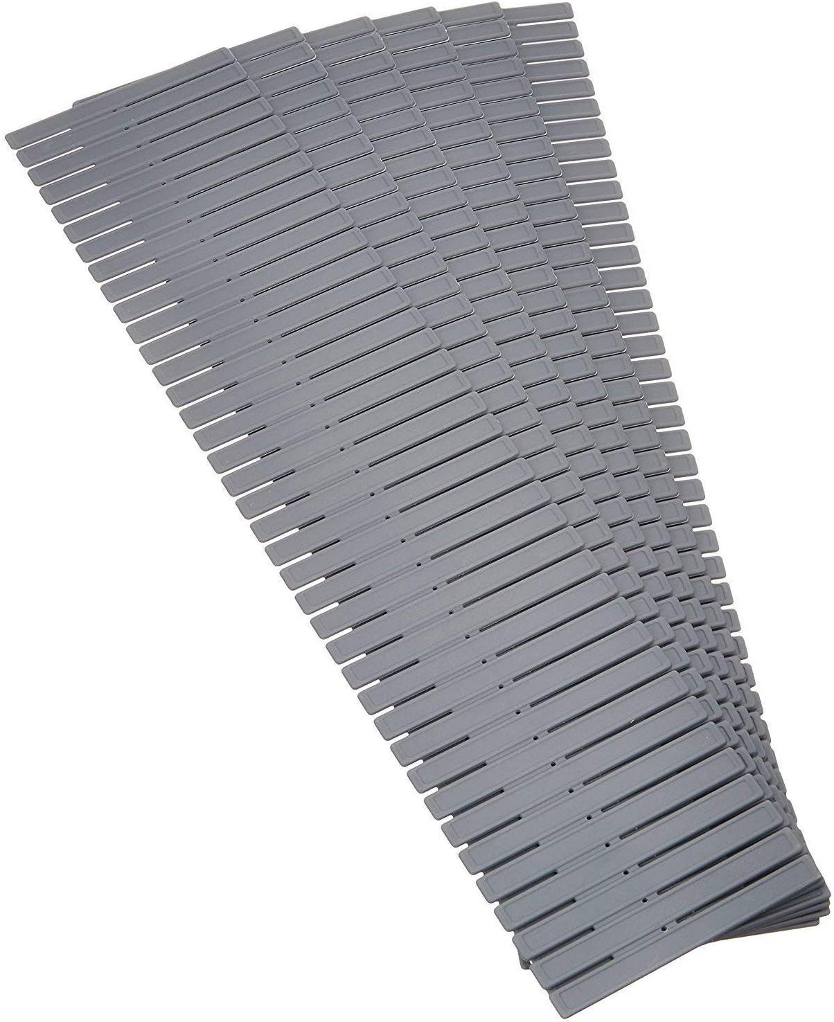 Febbya Organizadores de Cajones,8 Pack Ajustable Divisor de Cajones Separadores Cajon Plástico Separador de Armario para Ropa Interior Calcetines Corbatas Cinturones Cosméticos Hogar 32 * 7cm Gris
