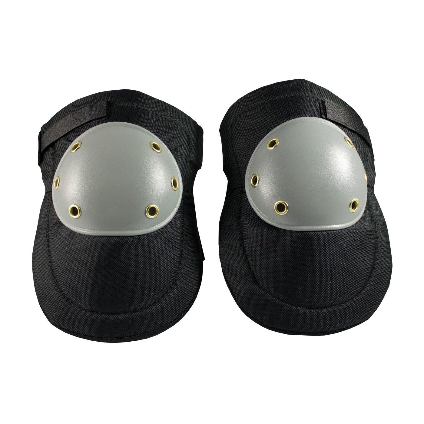 PIP 291-100 Hard Plastic Cap Knee Pads, Large, Black