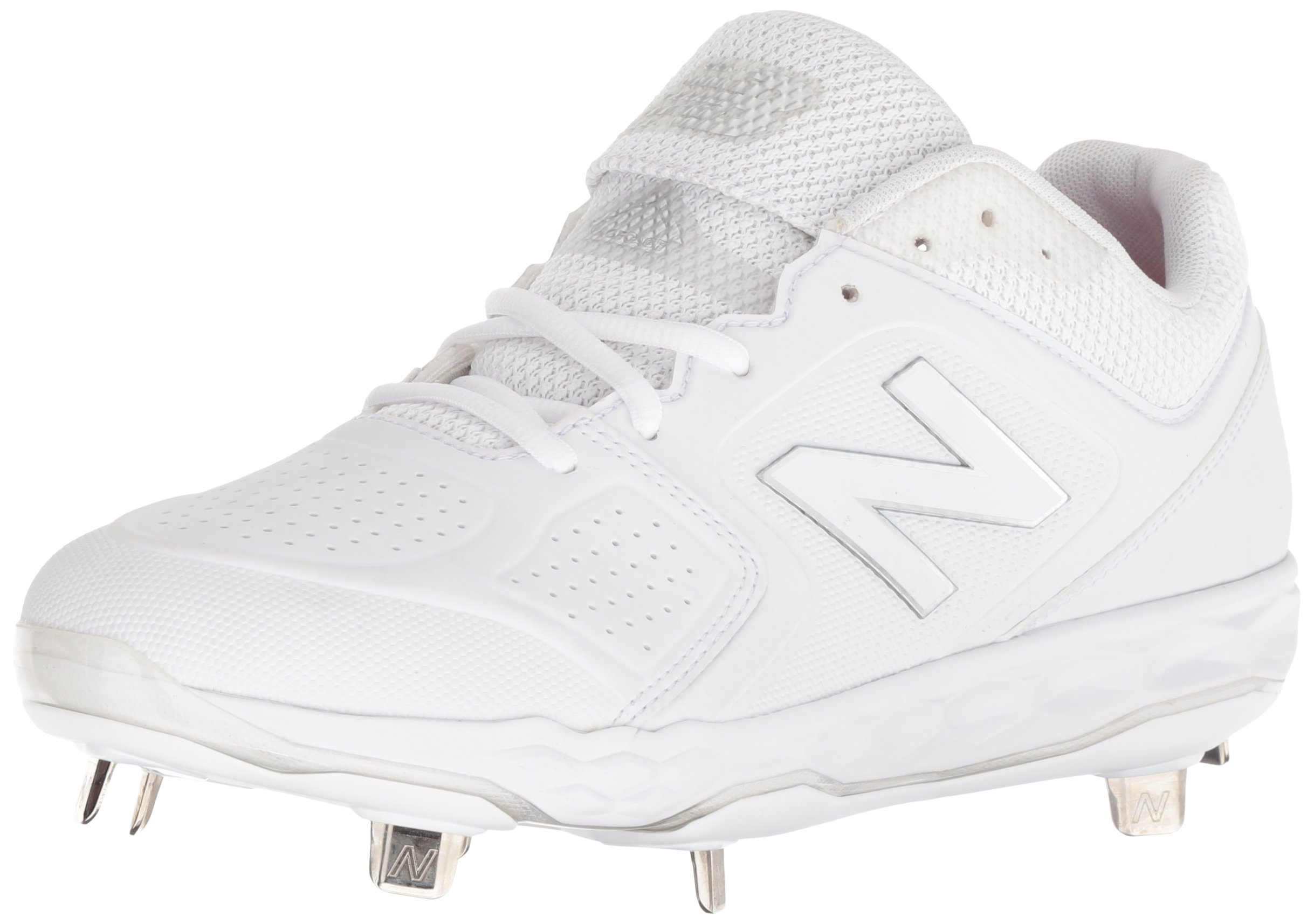 New Balance Women's Velo V1 Metal Softball Shoe, White, 8 B US by New Balance