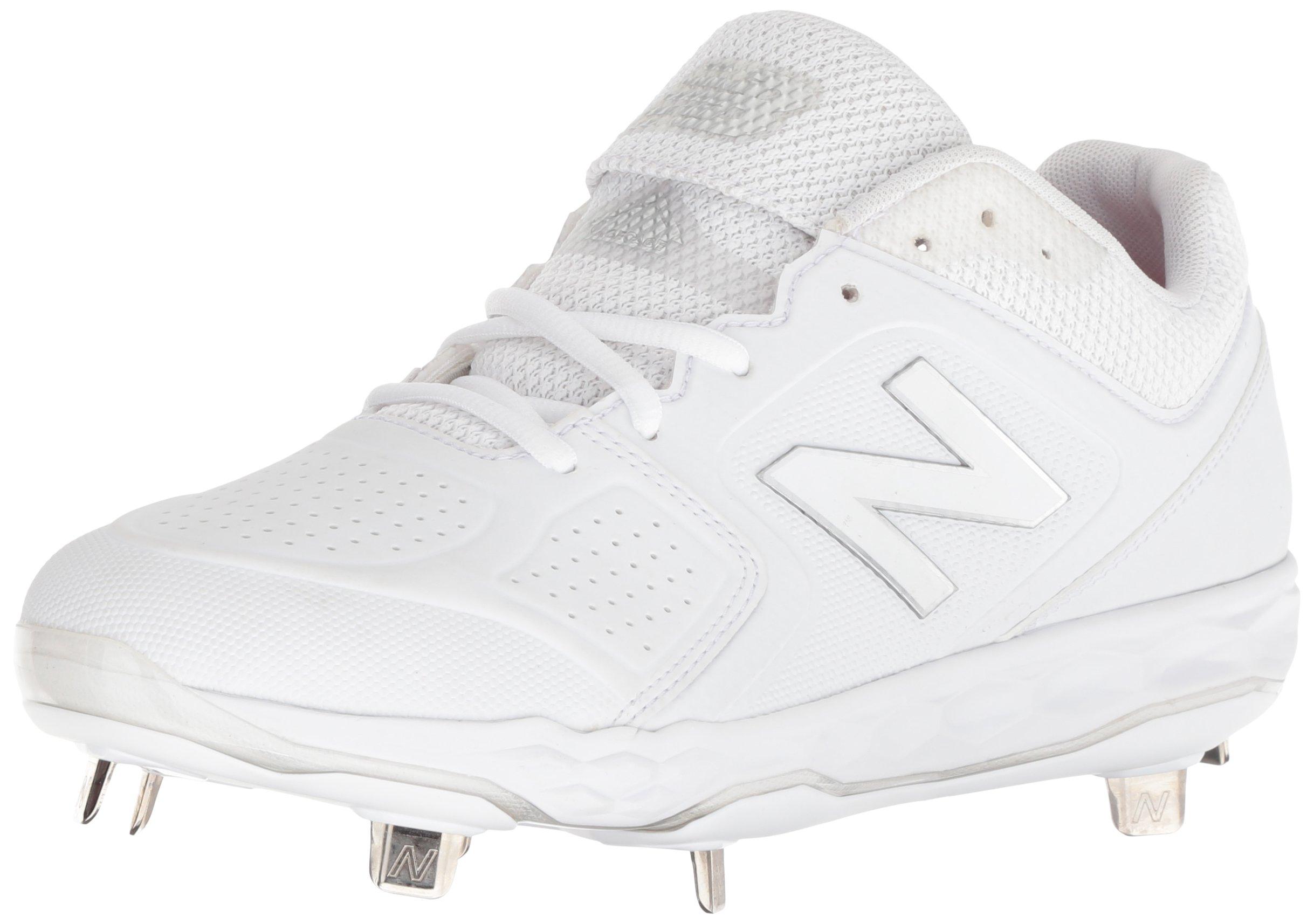 New Balance Women's Velo V1 Metal Softball Shoe White, 7.5 D US