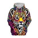 Unisex 3D Lisa Frank Printed Cartoon Hoodie Funny Hoodies Sweatshirt Drawstring with Pockets