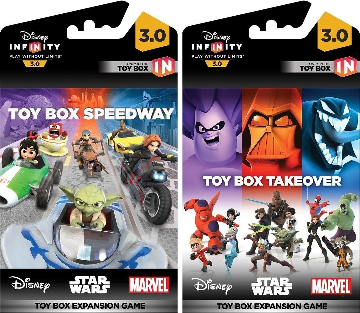Disney Infinity 3 0 Edition Toy Box Takeover And Toy Box Speedway Game Expansion Bundle Not Machine Specific Video Games