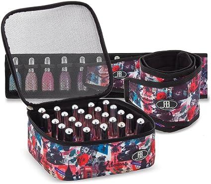Roo Beauty – Juego de organizadores para esmaltes, estuche de manicura para guardar cosméticos en Londres: Amazon.es: Belleza