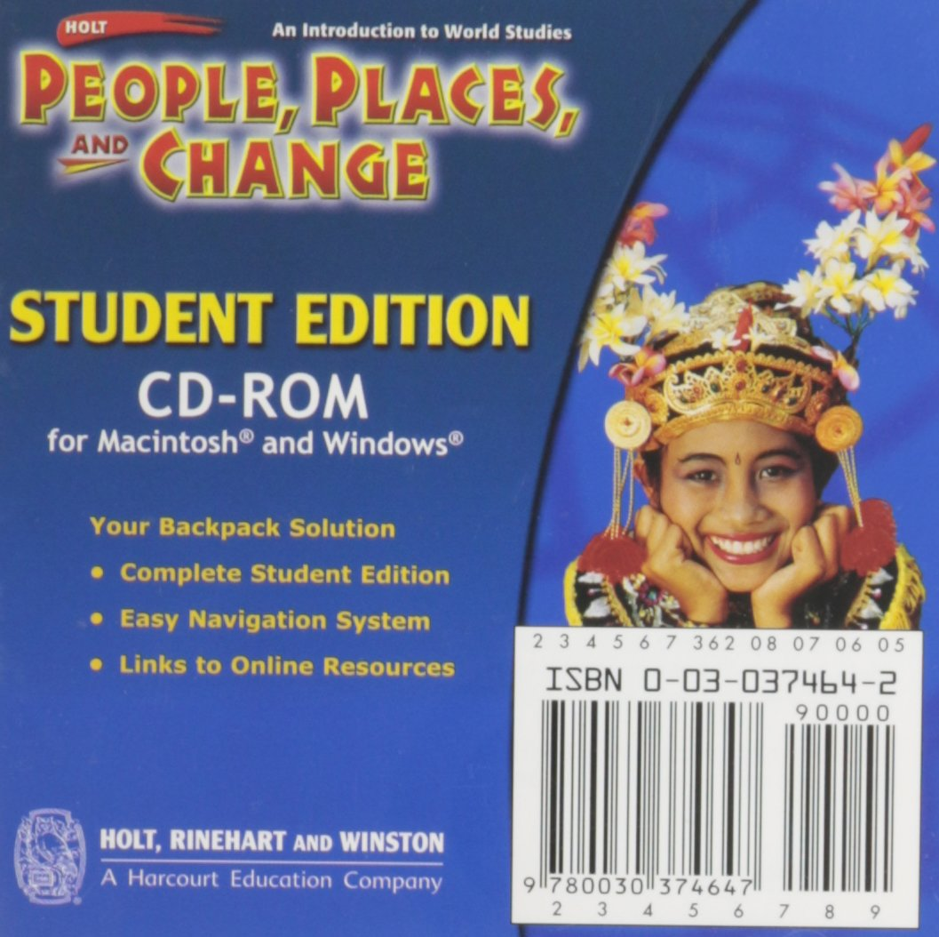 Holt People, Places, and Change: An Introduction to World Studies: Student Edition CD-ROM Grades 6-8 2005 PDF