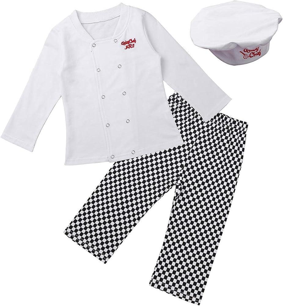 iiniim Disfraz Cocinero a Cuadros para Bebé Niño Niña 6 a 24 Meses ...
