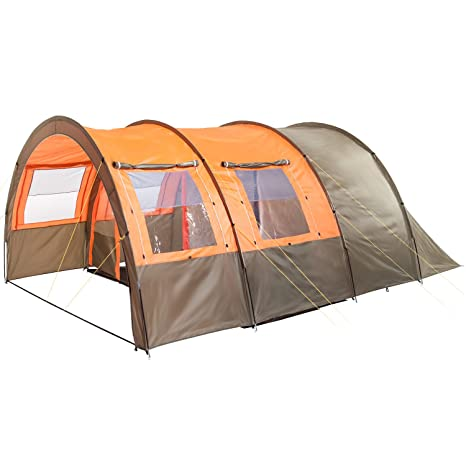 low priced 8222d 4542e Skandika Kemi family Tunnel Tent with Moveable Front Wall, 2 Sleeping  Cabins and a 3000 mm Water Column, 4 Person/Man