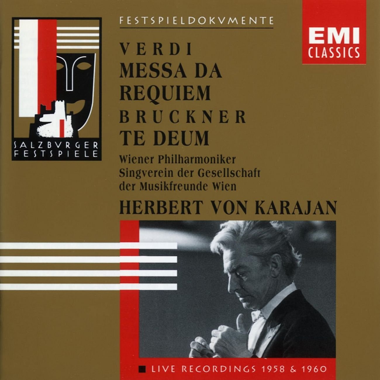 Verdi: Messa da Requiem / Bruckner: Te Deum (1958/1960) by Angel Records / EMI Classics