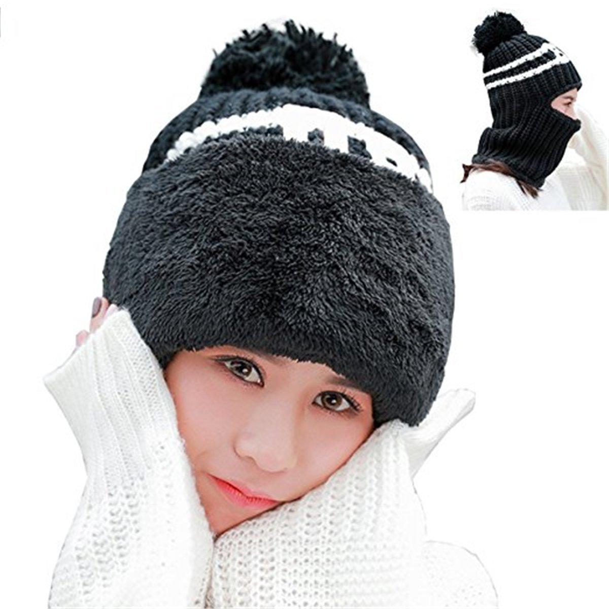 Womens Beanie Hat Fleece Lined Knit Winter Skull Cap Cuff Beanie