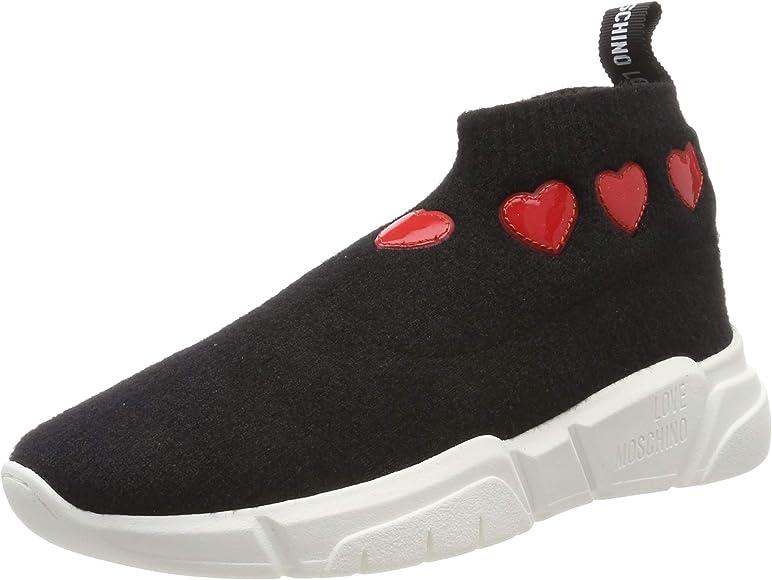 Love Moschino SCA.nod.Running 35 Mm, Calz.dolc, Zapatillas Altas para Mujer, Negro (Nero 000), 38 EU: Amazon.es: Zapatos y complementos
