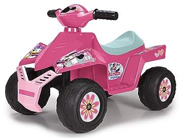 FEBER - Quad Racy Minnie Happy Helpers 6 V, para niños y niñas de los