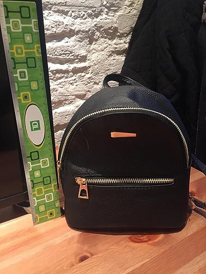 Donalworld Girl Floral School Bag Travel Cute PU Leather Mini Backpack S Black3 Backpack
