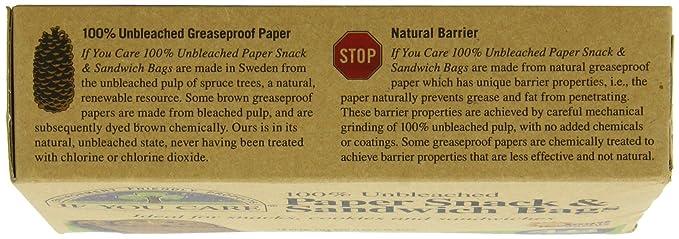 IF YOU CARE Bolsas de papel 100% sin blanquear para ...