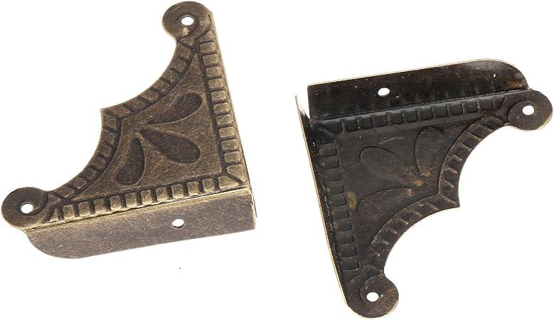 12pi/èces Protecteur de Coin Protecteur de Meubles Laiton Antique Jewelry Decorative Chest Bo/îte en bois dangle Protecteur