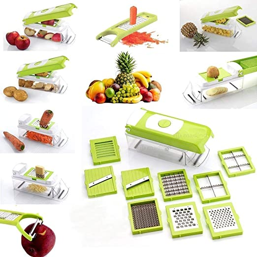 Buy Shital Fashion heer mart 11 in 1 Vegetable & Fruits Cutter, Slicer, Dicer Grater & Chopper, Peeler Online at Low Prices in India - Amazon.in