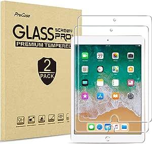 "[2 Pack] ProCase iPad 9.7"" (2018 & 2017) / iPad Pro 9.7 / iPad Air 2 / iPad Air Screen Protector, Anti Scratch Tempered Glass Screen Film Guard for iPad 9.7 6th / 5th Gen, Pro 9.7, iPad Air 1, Air 2"