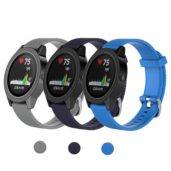 Amazon.com: Compatible Garmin Vivoactive 3 Bands, [3-Pack ...