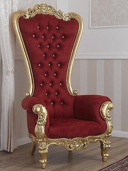 Simone Guarracino Poltrona trono stile Barocco Imperiale foglia oro ...