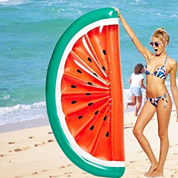 Mystery&Melody Giant Half Watermelon Pool Float Inflable Piscina al Aire Libre Flotador Balsa Lounger Flotante Salón