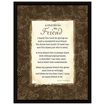 Amazon prayer friend wood frame plaque with easel home prayer friend wood frame plaque with easel thecheapjerseys Gallery