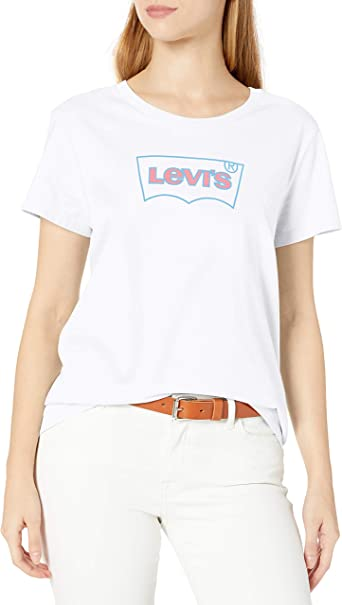 Ladies Levi/'s Batwing Crew Neck Short Sleeve Tee Shirt