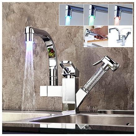 Miscelatore Cucina LED RGB con Doccia Estraibile Auralum ...