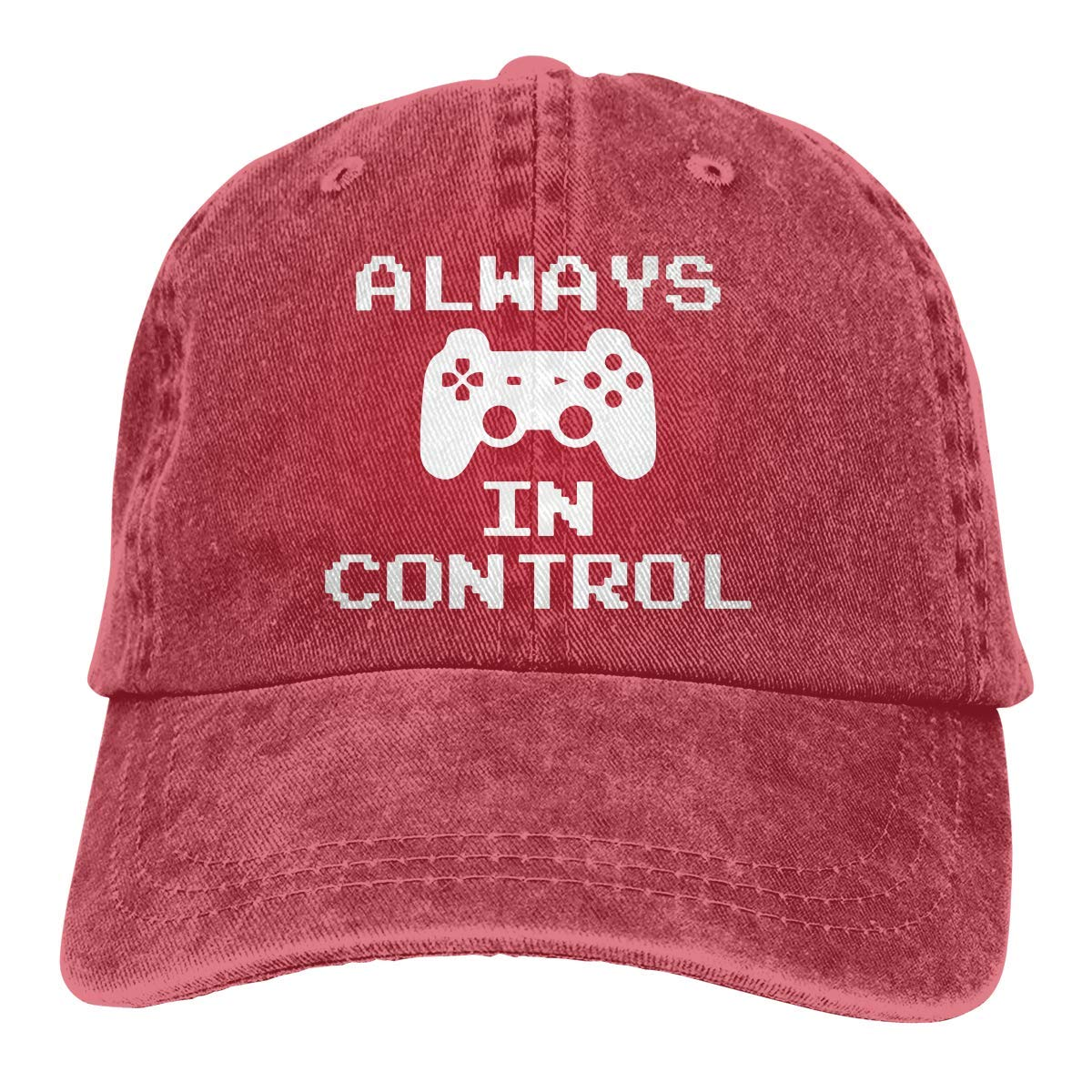 Hoklcvd Siempre en Control Gamer Unisex Washed Fashion Cowboy Hat ...