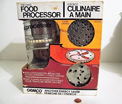 Amazon com: Vintage Gemco The Hand Food Processor Stainless Slicer