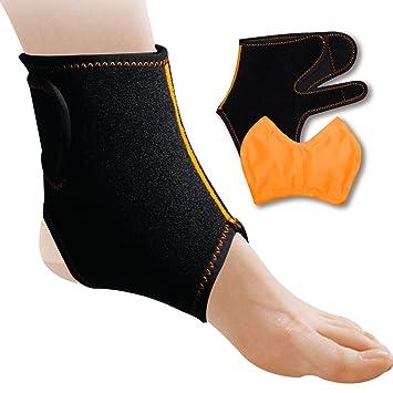 Bolsa de gel para tobillo para aplicar compresas de calor frío con envoltura de neopreno ajustable, alivio del dolor de tobillo y pie, lesiones del ...