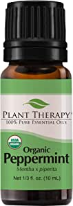 Plant Therapy Peppermint Organic Essential Oil 10 mL (1/3 oz) 100% Pure, Undiluted
