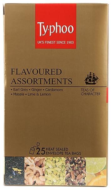Typhoo Flavoured Assortment Box, 25 Tea Bags Black Tea at amazon