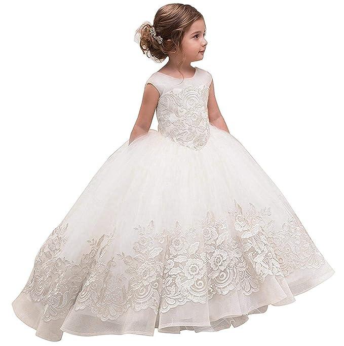 Amazon.com: Mejorme vestido de niña de flores de concurso ...