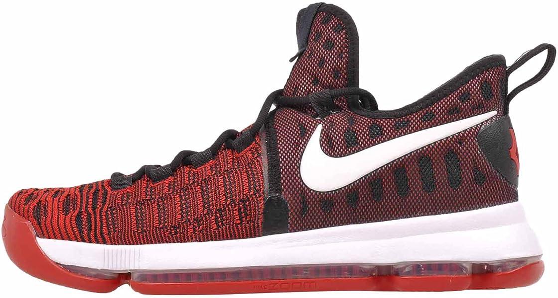 best service e9c01 766c1 Amazon.com   Nike Zoom KD 9 Men s Basketball Shoes (10, University Red White -Black)   Basketball