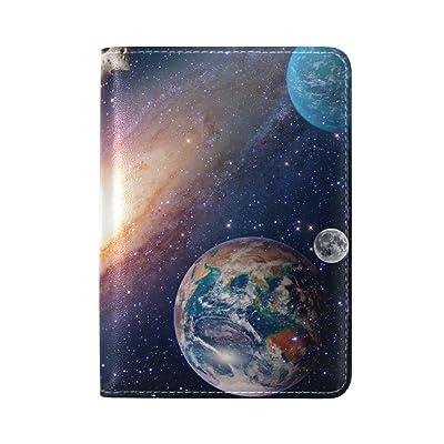 La Random Astrology Astronomy Earth Passport Holder Cover Leather Travel Passport Wallet Case