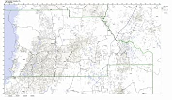 Map Of Florida Zip Codes.Amazon Com Hernando County Florida Fl Zip Code Map Not Laminated
