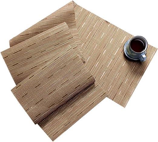 Pveath Camino de Mesa de PVC ecológico – linos Resistente al Calor ...