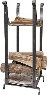 product image for Enclume Handcrafted Sling Fireplace Log Rack w Newspaper Holder Hammered Steel