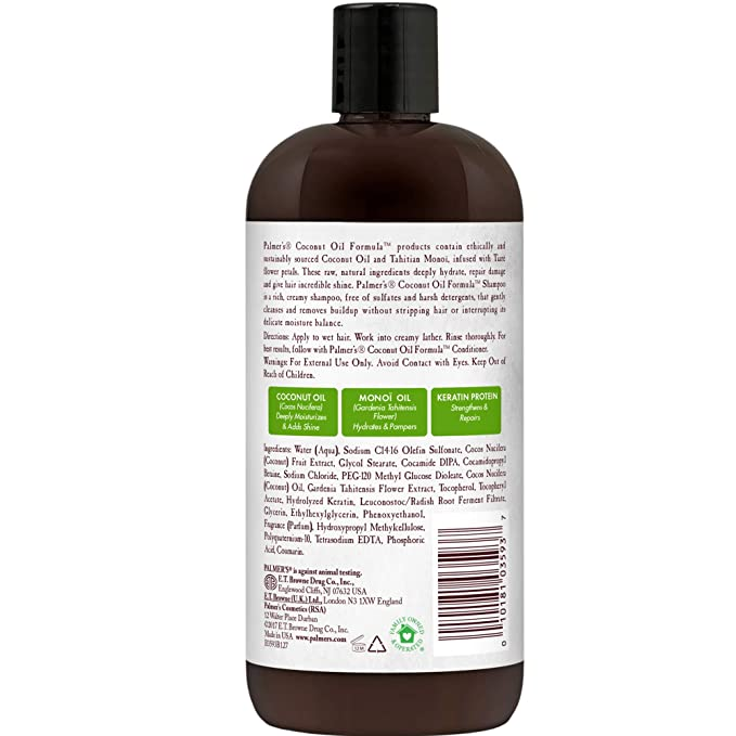 Amazon Com Palmer S Coconut Oil Formula Conditioning Shampoo 16 Ounce Beauty