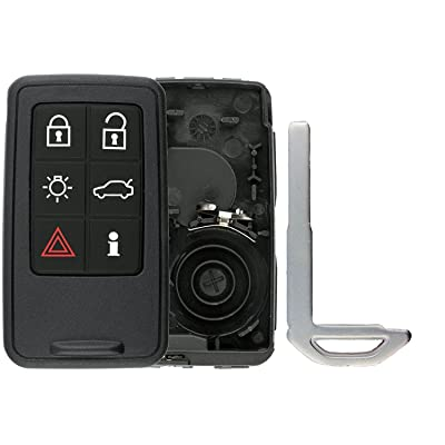 KeylessOption Keyless Entry Remote Smart Key Fob Case Shell Button Pad Outer Cover For Volvo KR55WK49264: Automotive
