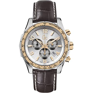 Guess Collection TechnoSport X51005G1S 44mm Stainless Steel Case Brown Calfskin Synthetic Sapphire Mens Watch