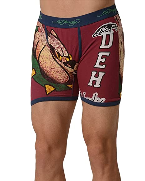 b1fc956fb2 Ed Hardy Men's Athletic Bulldog Vintage Boxer Brief - Red - Small at Amazon  Men's Clothing store: