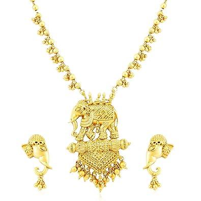 0c8d9d17b9aa5 Sukkhi Wedding & Engagement Jewellery Set for Women (Golden)  (N71788GLDPV1450_D3)