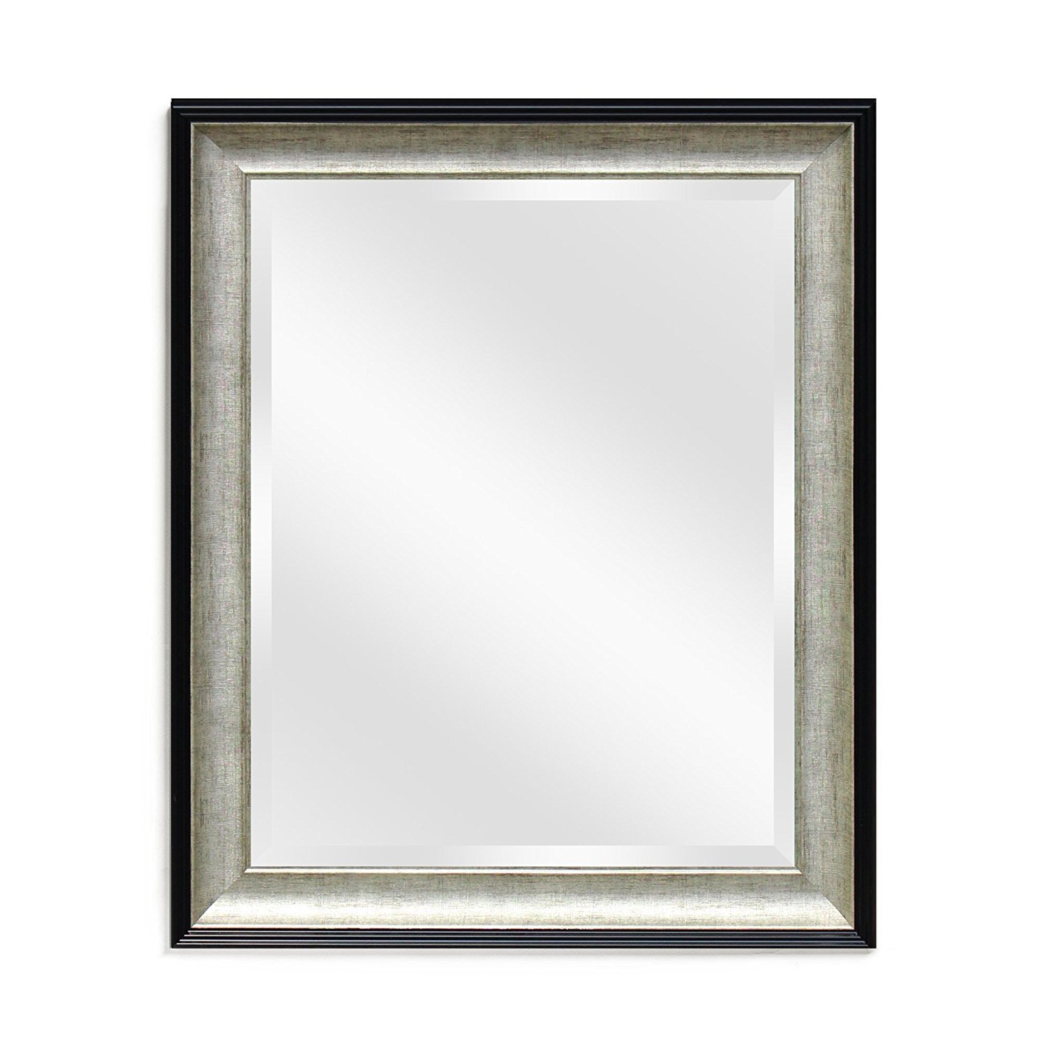 Wall Beveled Mirror Framed - Bedroom or Bathroom Rectangular Frame Hangs Horizontal & Vertical by EcoHome (21